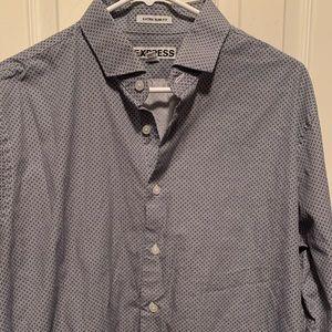 Express Extra Slim Long Sleeve Dress Shirt